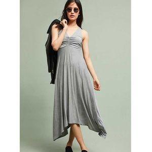 Maeve gray maxi dress sleeveless medium p flared